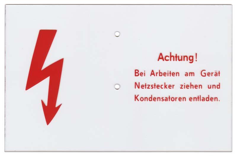 """Hinweisschild """"Achtung!"""""""