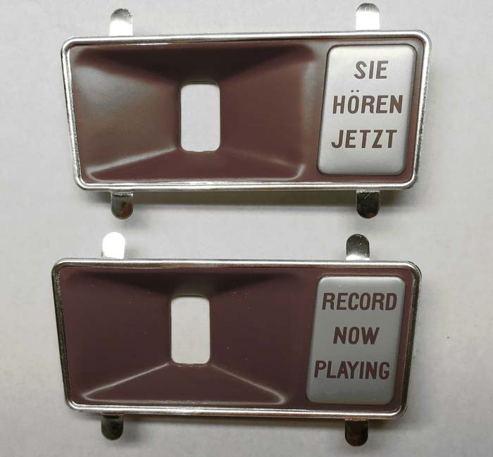 Record Playing Escutcheon, left - mat