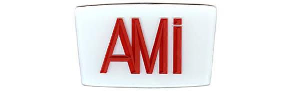 "Glasschild ""AMI"""