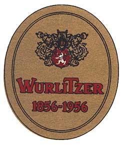 "Aufkleber ""Wurlitzer 1856-1956"""