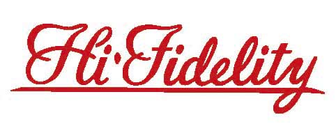 """Decal """"High Fidelity"""", red"""