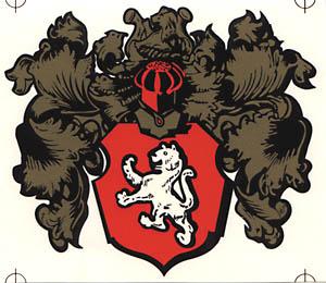 """Aufkleber """"Wappen mit Löwe"""""""