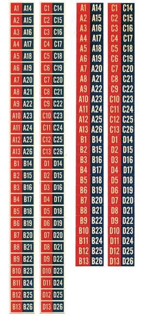 Aufkleber Popularitätszähler u. Plattenringe rot/schwarz