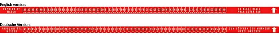 Aufkleber Popularitätszähler, rot