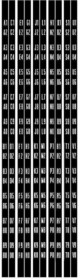 Decals for title strip holder W2200, 2250
