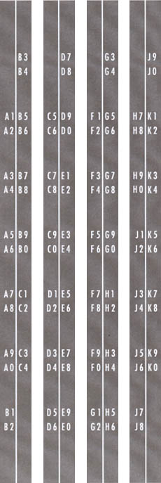 Decal set title strip holder A1 - K0