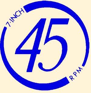 "Aufkleber ""45 RPM"""