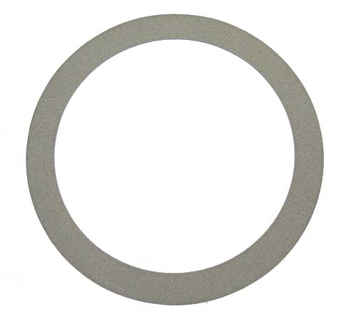 Velvet ring for turntable, grey