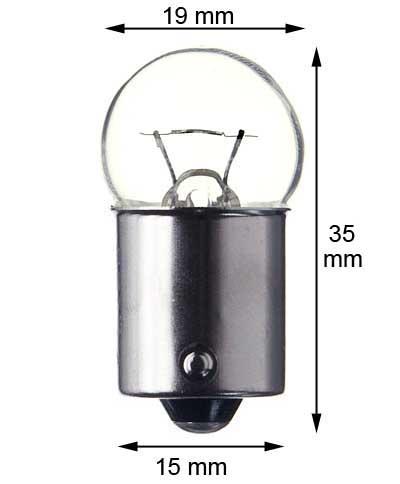 Ba 15s miniature lamp #81 - clear