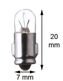 Ba7s miniature lamp 12V/2W