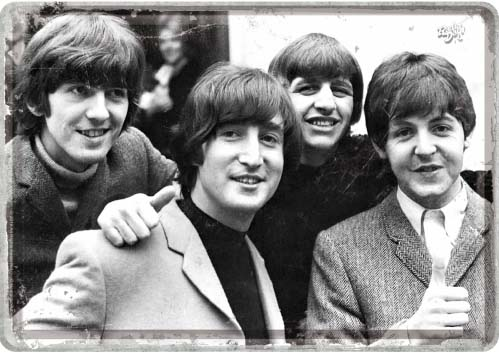 """Blechpostkarte """"The Beatles"""""""