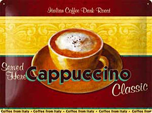 """Metal sign """"Cafe Capucchino"""""""