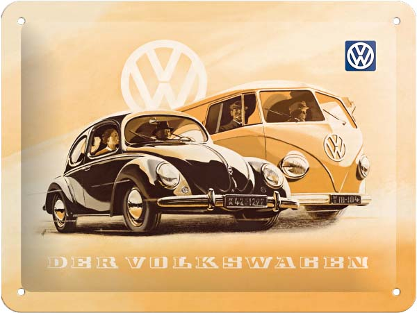 "Metal sign ""Der Volkswagen"""