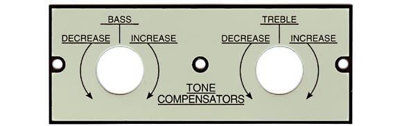 Tone control plate