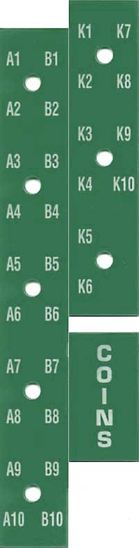 Selection number strips, green