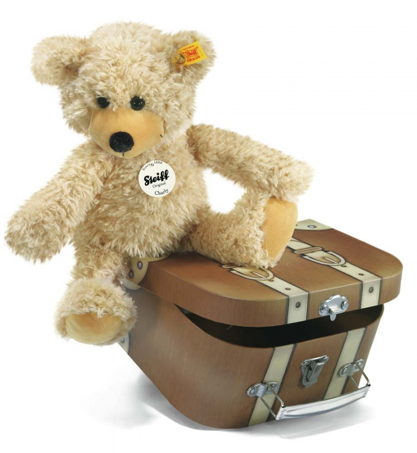 Charly Teddy Bear with brown suitcase