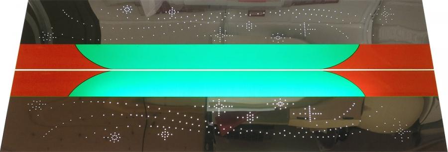 Farbfolien für Glaspilaster, Chrom