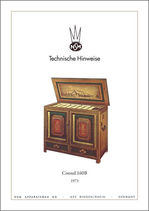 Technische Hinweise Consul 160B