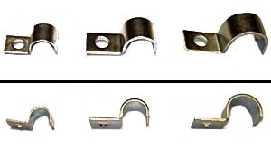 Metal clamps, assorted