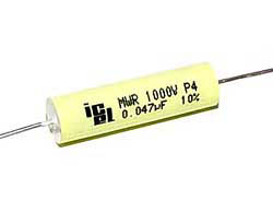 0,047 µF high voltage capacitor, axial
