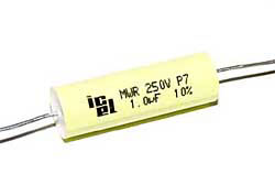 1 µF high voltage capacitor, axial