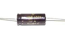 10 µF high voltage electrolytic capacitor