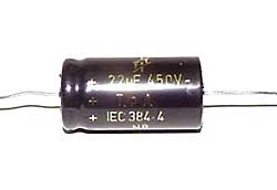 22 µF high voltage electrolytic capacitor