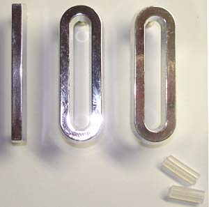 "Ornaments ""1 0 0"", chrome plated"