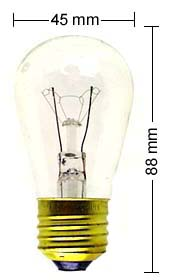 E27 lamp 11W/110V, clear