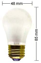 E27 lamp 15W/110V, frosted