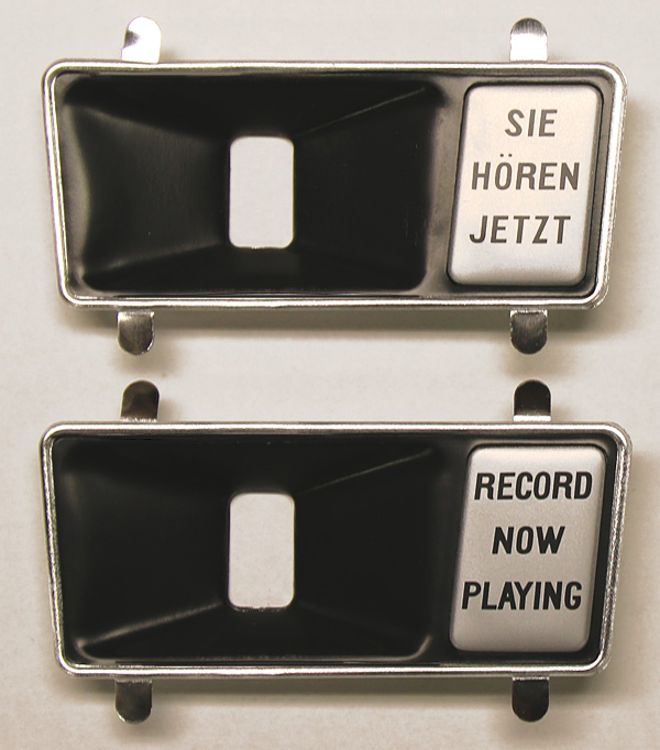 Record Playing Escutcheon, left - mat