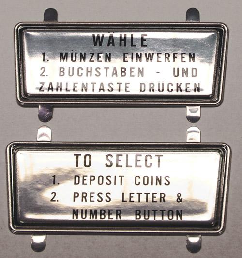 Instruction Escutcheon, right - glossy