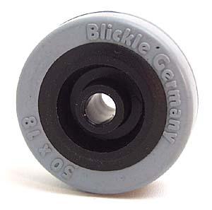 Single rubber wheel