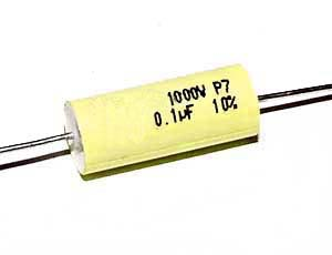 0,1 µF high voltage capacitor, axial