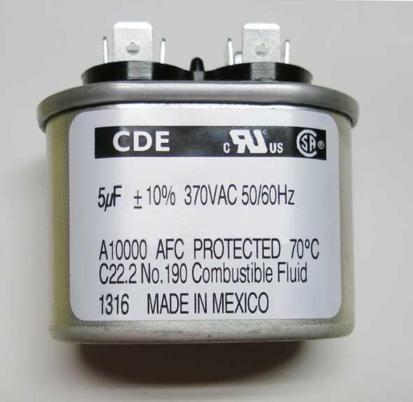 Motor-run and power supply capacitor 5µF