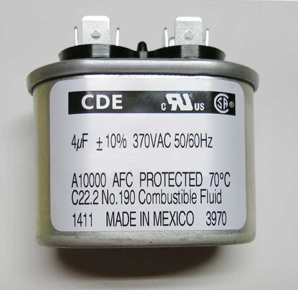 Motor-run and power supply capacitor 4µF