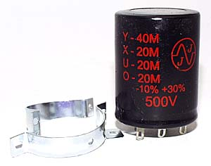 Multi section capacitor 3 x 20µF + 40µF