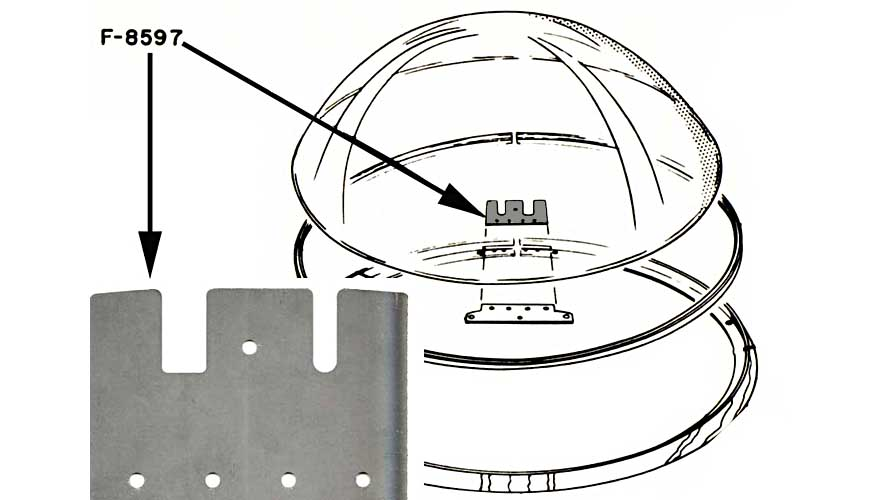 Federblech für Glaskuppel