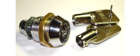 "Tumbler lock 5/8"" for Wurlitzer wallboxes"