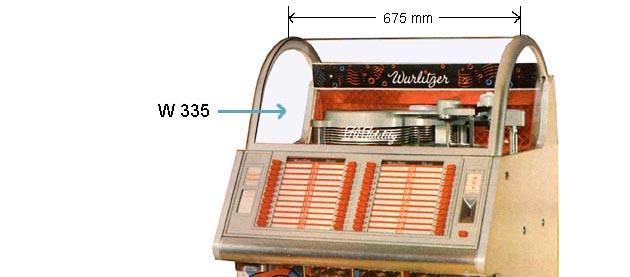 Frontscheibe Wurlitzer 1600A