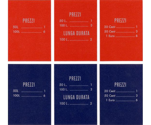 Preisschild, italienisch