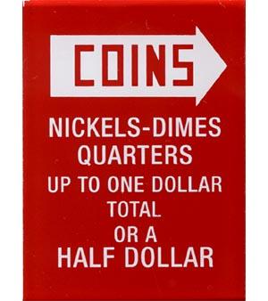 "Instruktionsglas ""Coins ..."", 201"