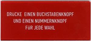 """Instruktionsglas """"Drücke einen ..."""""""