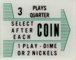 "Instruktionsglas ""Coin"""