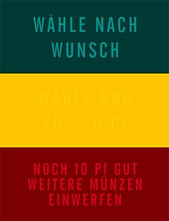 """Instruktionsglas """"Wähle nach Wunsch"""""""