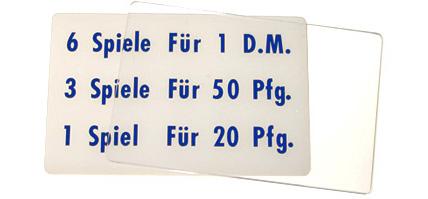 """Preisschild """"6 Spiele"""", DM"""