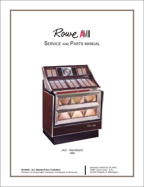Service Manual Rowe/AMI JAO