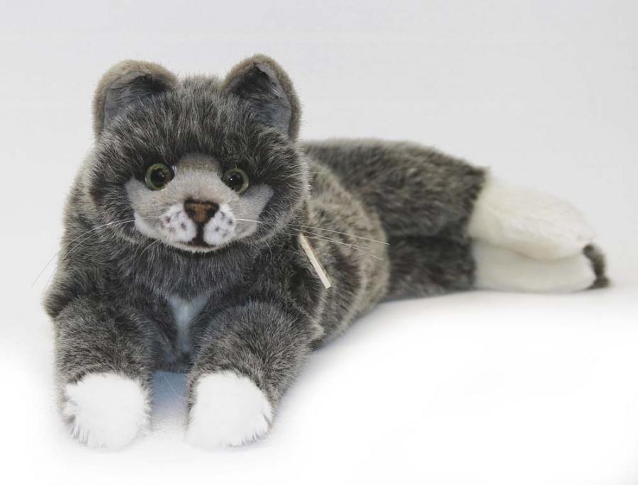 "Grey Lying Cat ""Lucie"""