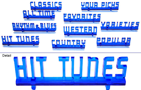 Classification headings, blue