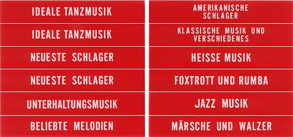 Classification set, red, German